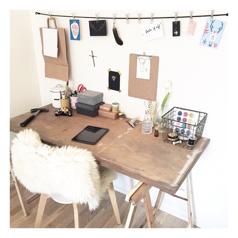 inspiration des moodboards pour le bureau cocon de d coration le blog. Black Bedroom Furniture Sets. Home Design Ideas